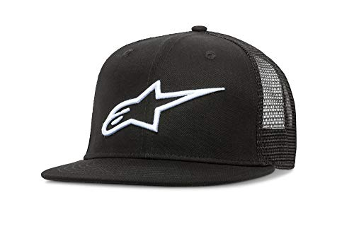 - Alpinestars Men's Bill Trucker Snap Back Flat Embroidered Logo Flexfit Hat, Corp Black, One Size