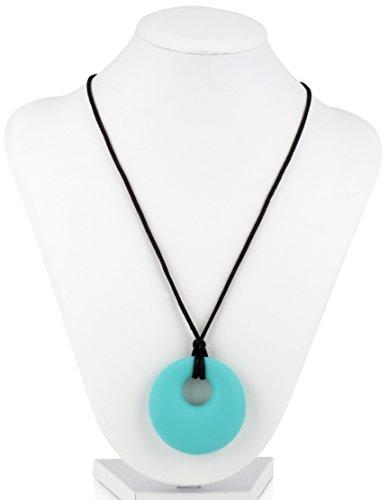Nuby Teething Trends Hanging Pendant Teething Necklace - Aqua