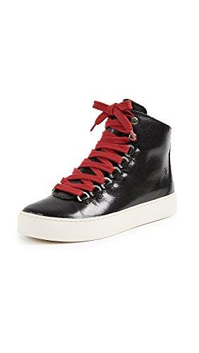 FRYE Women's Lena Hiker Fashion Sneaker Black