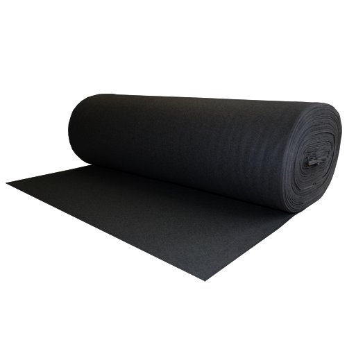 100% Wool Felt Black 1.2 MM Thick X 72 Inches Wide X 1 Yard Long ()