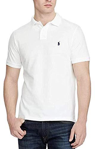 Polo Ralph Lauren Men Medium Fit Interlock Polo Shirt, White, X-Large (Mens White Ralph Lauren Shirt Short Sleeve)