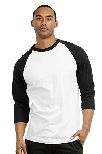 Men's 3/4 Sleeve Casual Raglan Jersey Baseball Tee Shirt (XL, - Raglan Tee 3/4 Sleeve