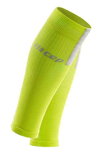 CEP Women's Compression Run Sleeves Calf Sleeves 3.0, Lime/Light II by CEP (Image #1)