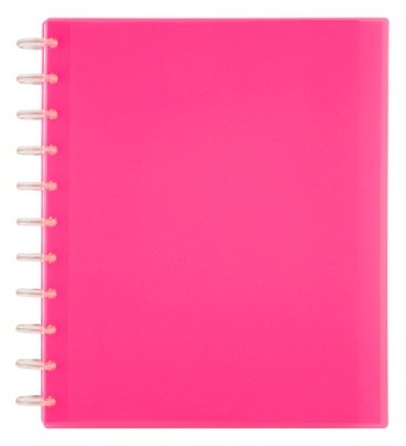 TUL Custom Note-Taking System Discbound Student Notebook, Letter Size, 3-Subject, Pink (Bound Notebook Disc)