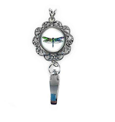 Dragonfly Snap Charm ID Badge Holder for 20mm Snaps Dragonfly Hook Dangle Earrings