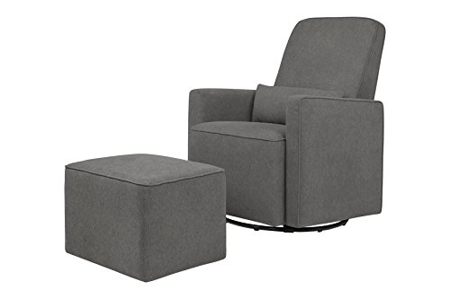 DaVinci Olive Glider and Ottoman, Dark Grey