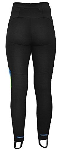 Berkner Mujer unidad Pantalón Largo Térmico y transpirable (fabricado en la ue) negro / verde