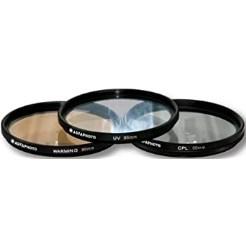 AGFA 3-Piece Professional Filter Kit 86mm - Ultraviolet (UV) + Circular Polarizor