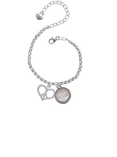 Will Forever Be My Always Engraved Bracelet (Peace Heart Bracelet)