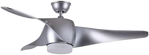FABRILAMP Ventilador de Techo con luz Led Electra Plata: Amazon.es: Hogar