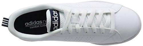 adidas Advantage Clean Vs, Zapatillas Para Hombre Blanco (Ftwbla/Ftwbla/Maruni 000)