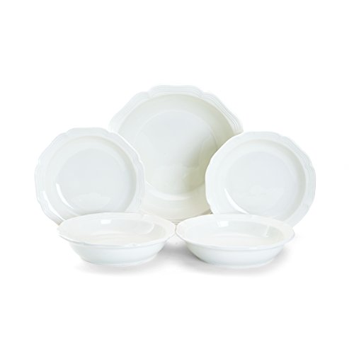 Countryside Pasta Bowl - Mikasa French Countryside 5 Piece Pasta Set, White