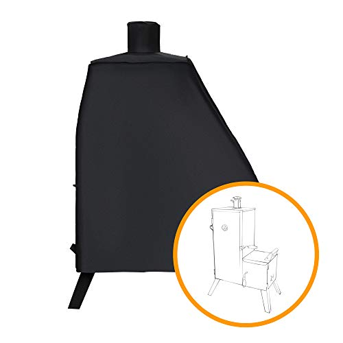 i COVER Smoker Cover-Sized for Dyna-Glo DGO1176BDC-D Vertical Offset Charcoal Smoker, Heavy Duty Waterproof Patio Outdoor Canvas Smoker Cover, G21637. (Charcoal Glo Smoker Offset Dyna)