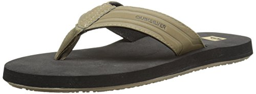 - Quiksilver Men's Monkey Wrench 3 Point Sandal, Tan/Solid, 9 M US