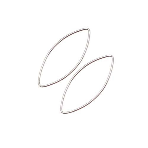 Ellipse Links - Beadaholique Sterling Silver Long Ellipse Marquise Link Rings 28.5mm X 12mm (2)