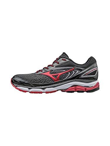 Pictures of Mizuno Men's Wave Inspire 13 Running 410875.991G Gunmetal/High Risk Red 1