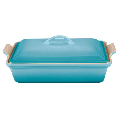 Le Creuset Heritage Stoneware 12-by-9-Inch Covered Rectangular Dish, (Le Creuset Rectangular Pan)