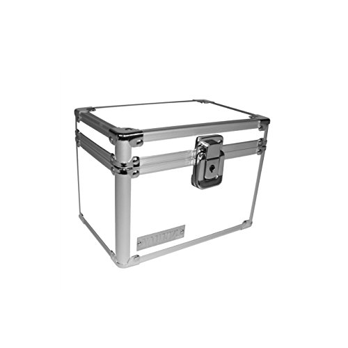 "Vaultz Locking 4 x 6"" Index Card Box, White (VZ00175)"