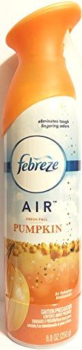 Febreze Air - Air Freshener Spray - Limited Edition - Winter Collection 2017 - Fresh-Fall Pumpkin - Net Wt. 8.8 OZ (250 g) per Bottle - One (1) Bottle
