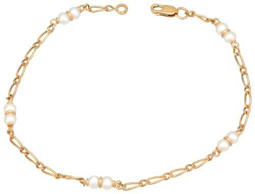 Orleo - REF406BB : Bracelet Femme Or 18K jaune et Perle d'eau douce - Fabriqué en France