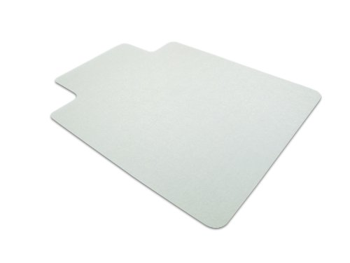 Tinted Wood Protector - EcoTex Revolutionmat Chair Mat for Hard Floors, 100% Recycled, Tinted Rectangular with Lip, 48