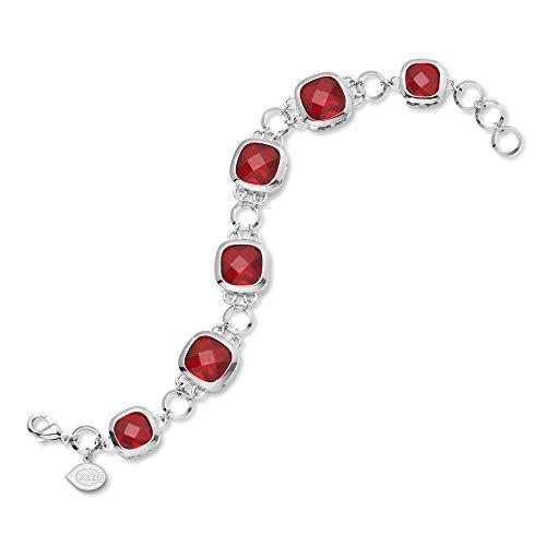 (MLB Cincinnati Reds MLB LogoArtCincinnati Reds Crystal Legend Bracelet Size One Size)