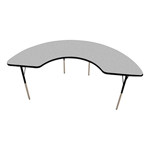 Norwood Commercial Furniture Adjustable-Height Half Moon Activity Table, 72