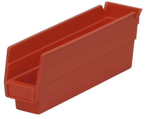 Akro-Mils 30110 12-Inch by 2.75-Inch by 4-Inch Plastic Nesting Shelf Bin Box, Red, Case of 24 (Drawer 3 Chest Mission)