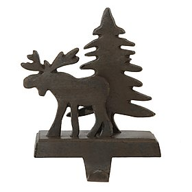 Park Designs Moose and Tree Stocking Holder - Iron Finish