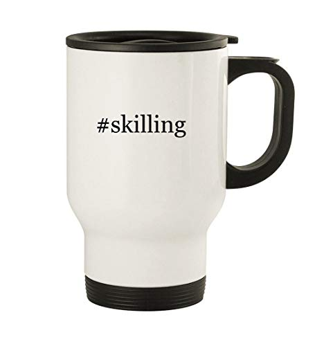 #skilling - 14oz Stainless Steel Travel, White (Corporate Soft Skills Training Games And Activities)