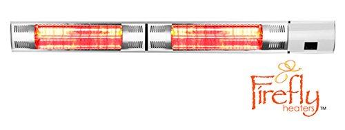 Firefly 3000 Watt Infrarot Heizstrahler Fernbedienung Wandmontage Halogen-Heizstrahler Terrassenheizung 2 Heizstufen inkl