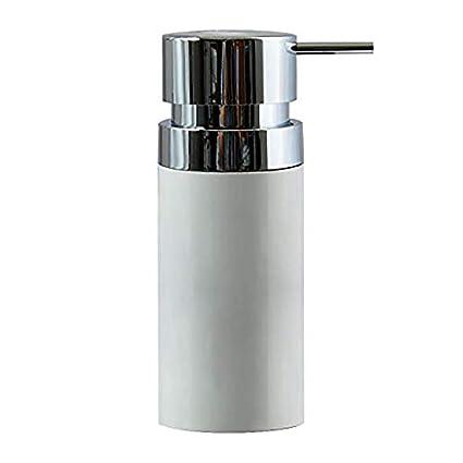 MSV 143890 dispensador de jabón Aspen de plástico en plástico, Color Blanco, 30 x