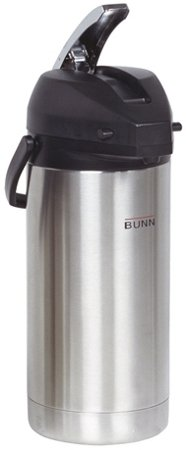 Bunn Commercial 3.8l 128oz Lever Action Airpot Carafe - Ss - 6 Pk - 36725-0100 by Bunn-O-Matic