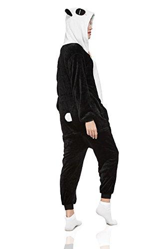 Adult Panda Kigurumi Onesie Pajamas Animal Cosplay Costume Hooded Warm Fleece Pjs (Medium, Black/White) by Nothing But Love (Image #1)