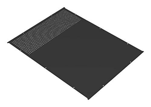 RM1922BKVP - Panel, Top / Bottom, RM Series Enclosures, Vented, Aluminum, Black, 544.6 mm x 413.79 mm (RM1922BKVP)