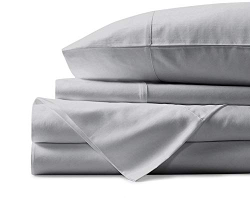 Mayfair Linen 100% Egyptian Cotton Sheets, Silver Queen Sheets Set, 800 Thread Count Long Staple Cotton, Sateen Weave for Soft and Silky Feel, Fits Mattress Upto 18'' DEEP Pocket (1000tc Sheet Set Queen)