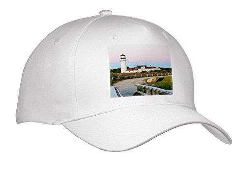 Danita Delimont - Lighthouses - Highland Light in the Cape Cod National Seashore. Truro, Massachusetts - Caps - Adult Baseball Cap (cap_259431_1)
