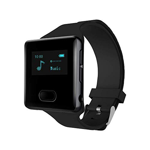 - 16GB Clip MP3 Player with Bluetooth 4.0,Portable Music Player with Watch Strap for Running (Pedometer, FM Radio,Voice Recorder, Time Display )- 2 Watch Bands