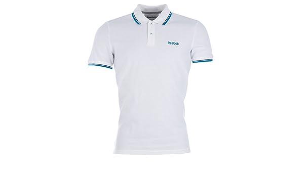 Reebok - Polo - para Hombre Blanco XL: Amazon.es: Ropa y accesorios