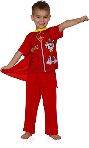 Paw Patrol Boys' Toddler Marshall 2-Piece Uniform Set with Cape, fire red, 4T ()
