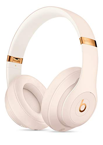(Beats Studio3 Wireless Bluetooth Over‑Ear Headphones with Universal USB Charging Cable and Carrying Case in Porcelain Rose)
