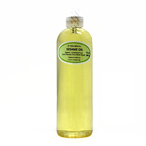 Sesame Seed Oil From RAW Seed Unrefined Cold Pressed 12 Oz