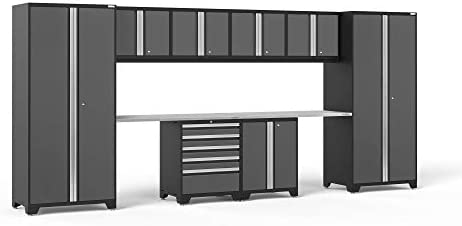 NewAge Products Pro Series Gray 10 Piece Set, Garage Cabinets, 52054