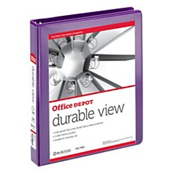 Ez Turn Ring (Avery Durable View Binder with 1 Inch  Gap Free EZ-Turn Ring, Purple, 1 Binder (17469))