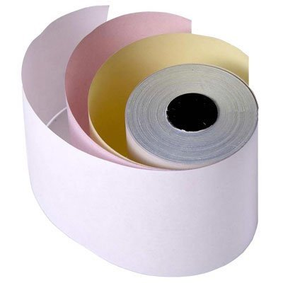 3-ply Cash Register Bond Pos Paper Rolls Width 3'' (Inch) Length 65' (Feet) 50 Rolls