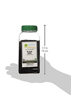 Indus Organics Black Seeds, Black Cumin, (Nigella Sativa), Premium Grade, High Purity, Freshly Packed