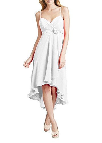 Amore White Bridal Chiffon Dress Women's Long Gowns Dresses Prom Bridesmaid Evening xrw71vqax