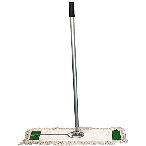 Industrial   Commercial Strength Performance Cotton Dust Mop Broom 24''x5'' Head with Aluminum Handle Quick Change Extension Handle and Frame by Unique Imports (Image #4)
