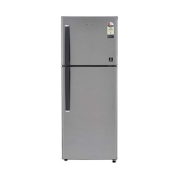 Whirlpool 265 L 2 Star Frost-Free Double Door Refrigerator (NEOFRESH 278LH PRM 2S, German Steel) 2021 July Frost-free refrigerator; 265 litres capacity Energy Rating: 2 Star Warranty: 1 year on product, 10 years on compressor