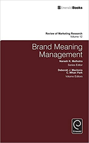Buy Brand Meaning Management: 12 (Review of Marketing